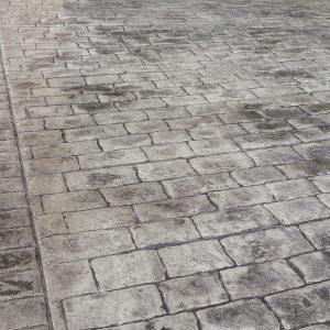 Pavé ancien gris - Motif béton imprimé