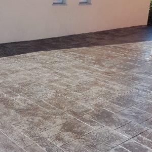 Dalle gris foncé - Motif béton imprimé