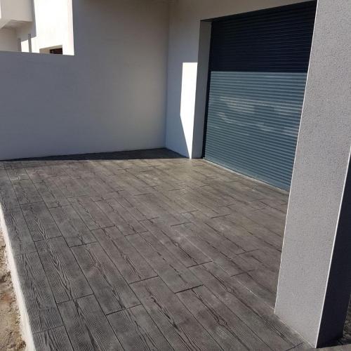 Terrasse motif bois - Béton imprimé