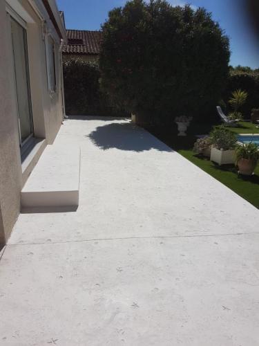 Terrasse motif Méditerranée - Béton imprimé